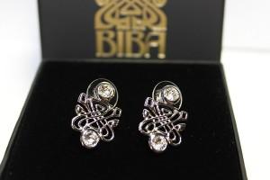 Biba Accessories rhodium crystal earrings