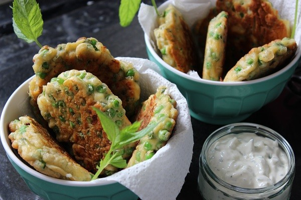 Pea Mint Feta Fritters1