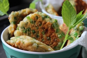 Pea, Mint & Feta Fritters displayed1
