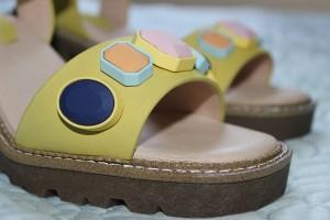 Topshop lime sandals