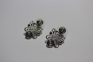 Biba Accessories logo earrings1