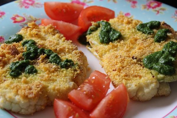 Vegan Polenta Cauliflower Steaks Salsa Verde1
